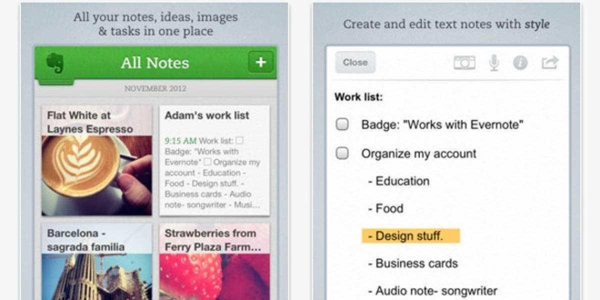 Actualización de Evernote para iOS agrega lector de PDF integrado y vistas previas