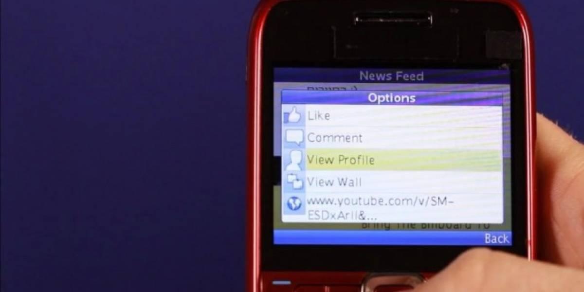 La aplicación de Facebook para teléfonos básicos alcanza los 100 millones de usuarios al mes