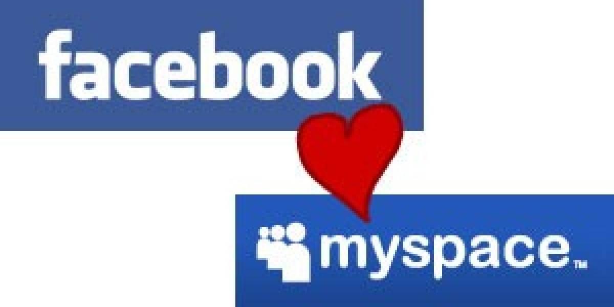 Facebook y Myspace ahora serán amigos