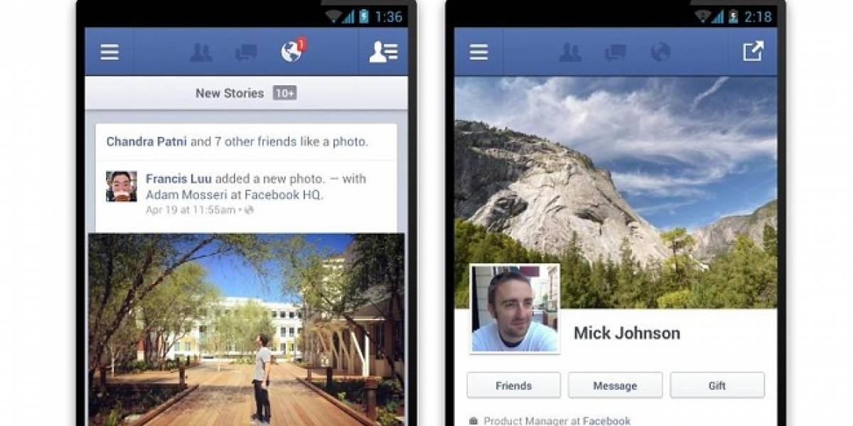 Facebook actualiza y hace nativo su cliente para Android