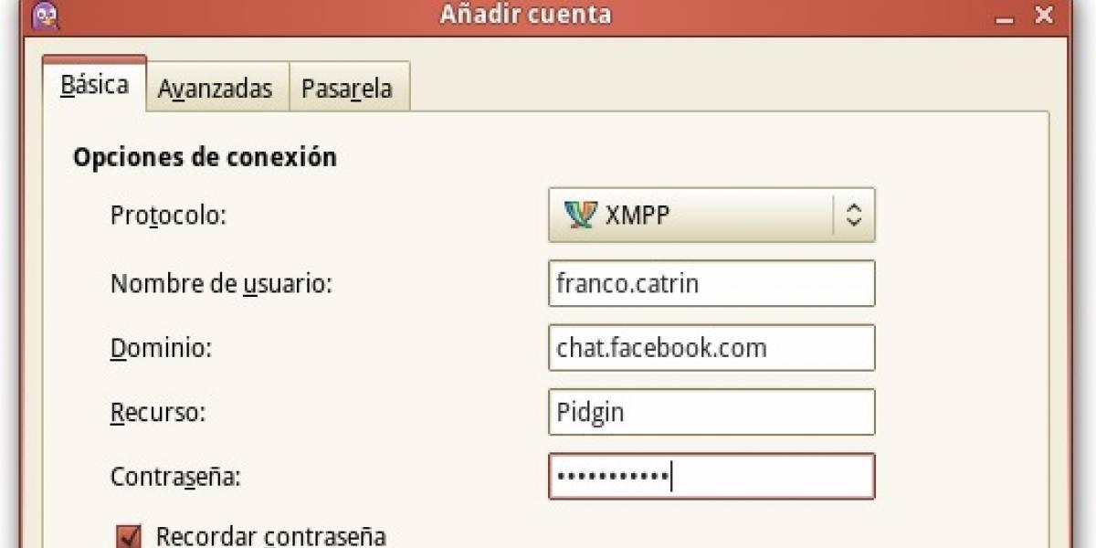 Chat de Facebook en tu cliente de mensajería instantánea favorito