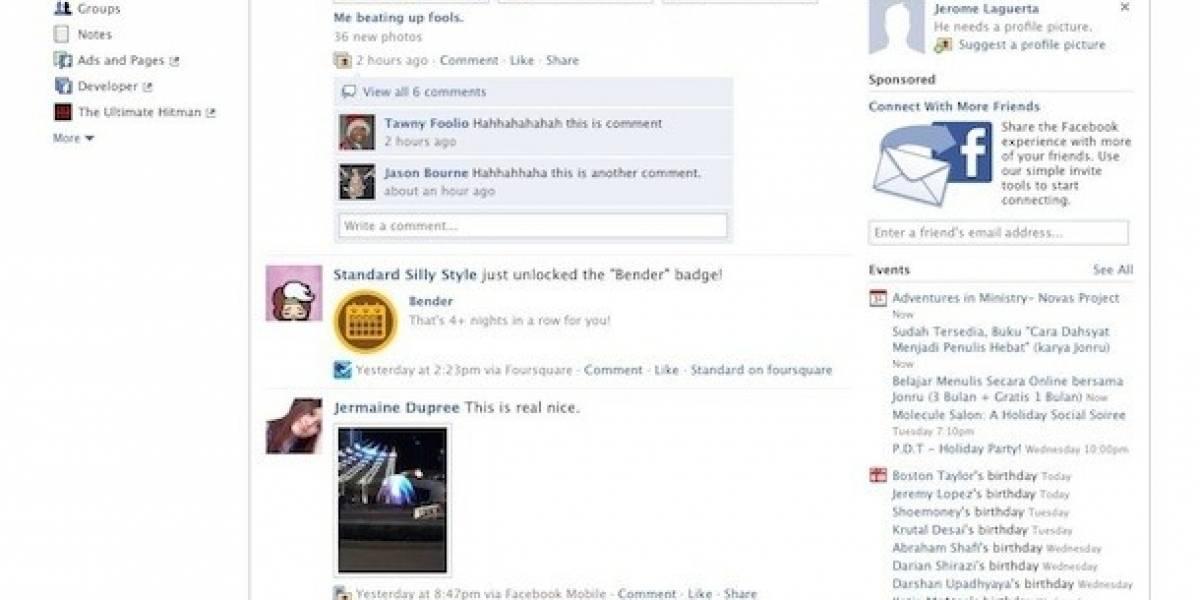 Facebook lanza nuevo rediseño para algunos usuarios