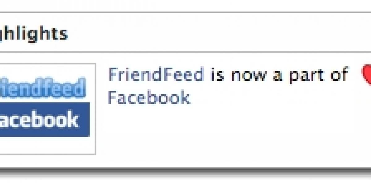 Facebook adquiere FriendFeed