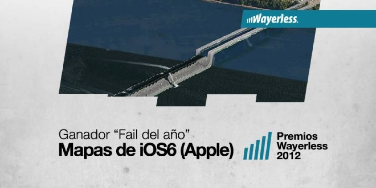 Los Mapas de iOS 6 son el Fail del Año 2012 [WL aWards]