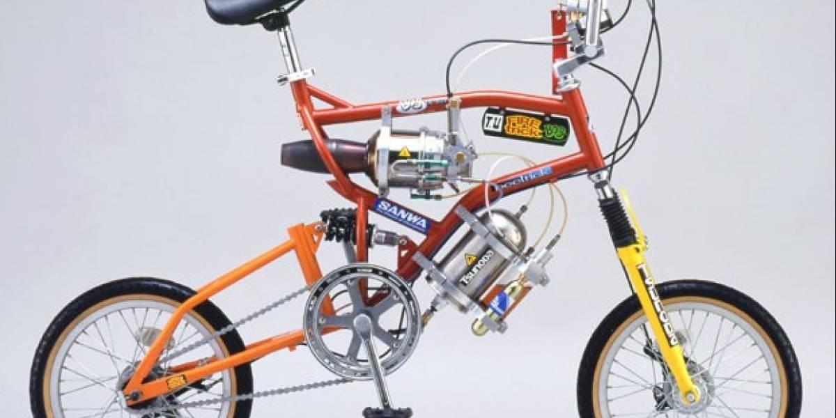 Faiyatorikkubobu: Una bicicleta comercial equipada con un jet