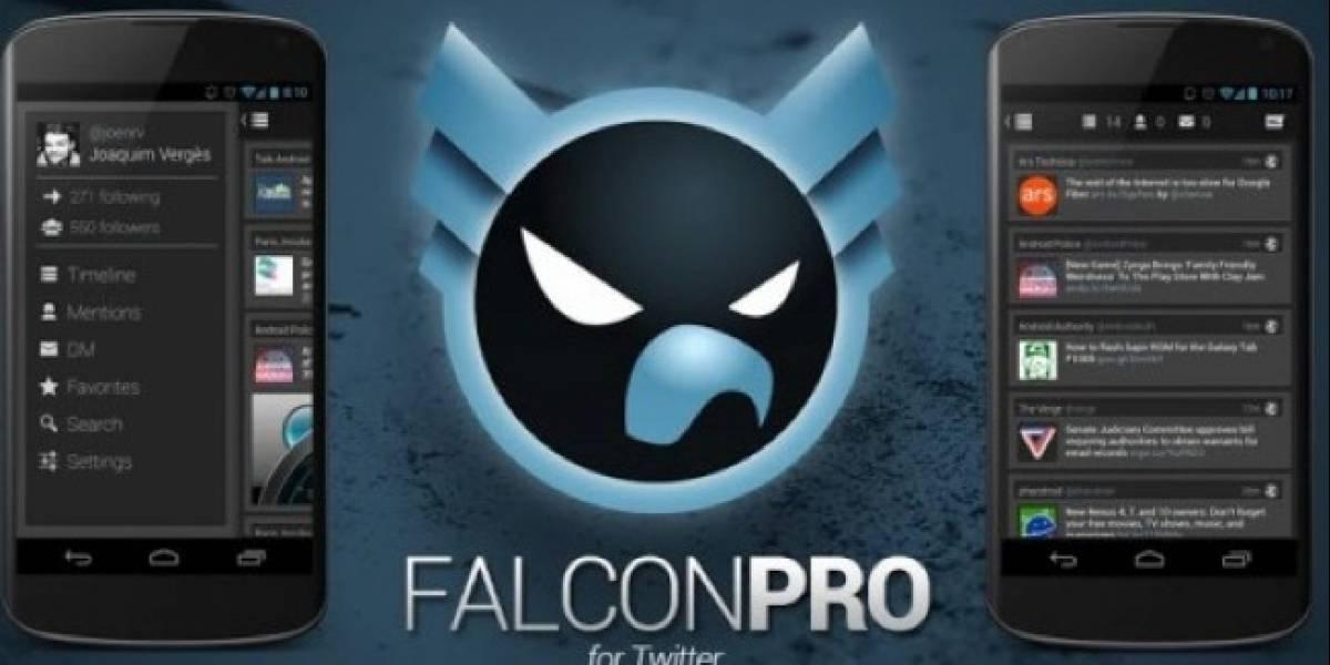 Falcon Pro, cliente Twitter para Android, llega a su límite de 100 mil usuarios