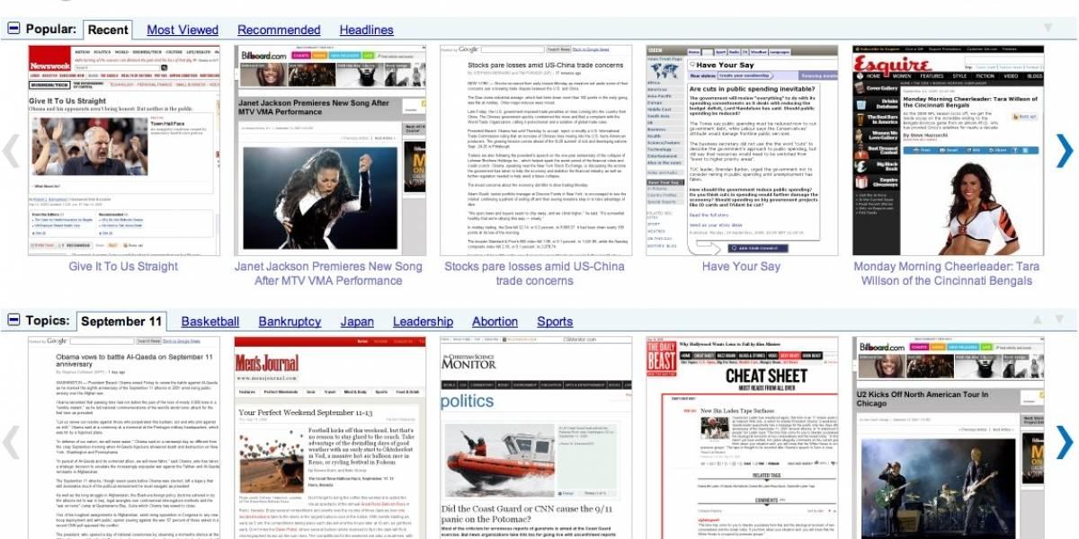 Google Fast Flip: Noticias en tiempo real