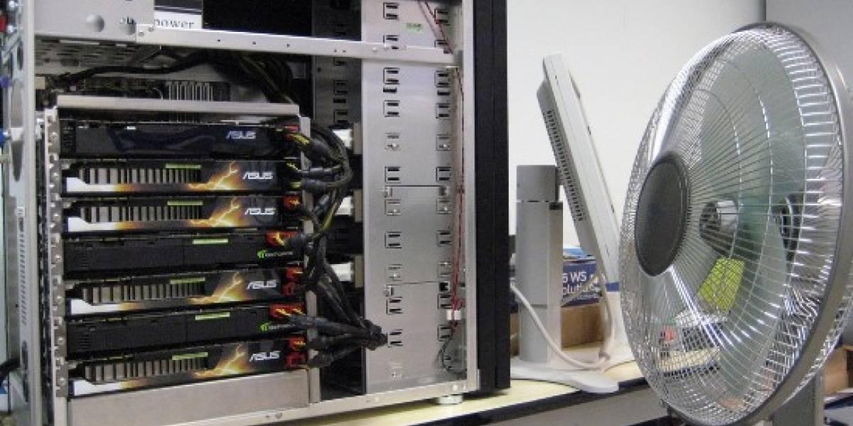 FASTRA II: Supercomputadora de escritorio con 7 tarjetas gráficas