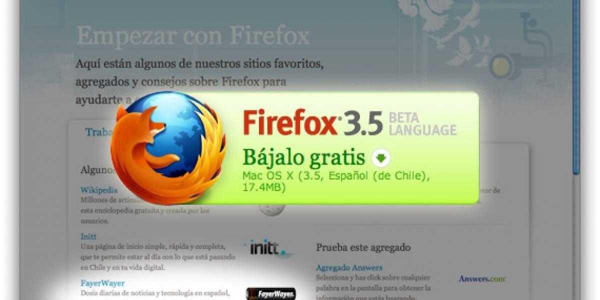 Firefox 3.5 finalmente disponible en chileno, español, mexicano y argentino