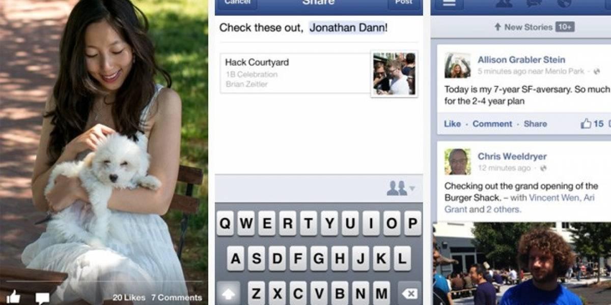 Facebook también se actualiza para iOS