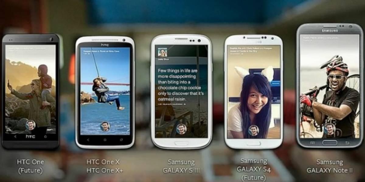 Facebook Home sólo estará disponible en 5 teléfonos al principio