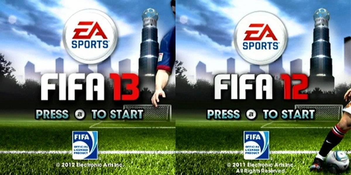 Impresentable: FIFA 13 para Wii es IDÉNTICO a FIFA 12
