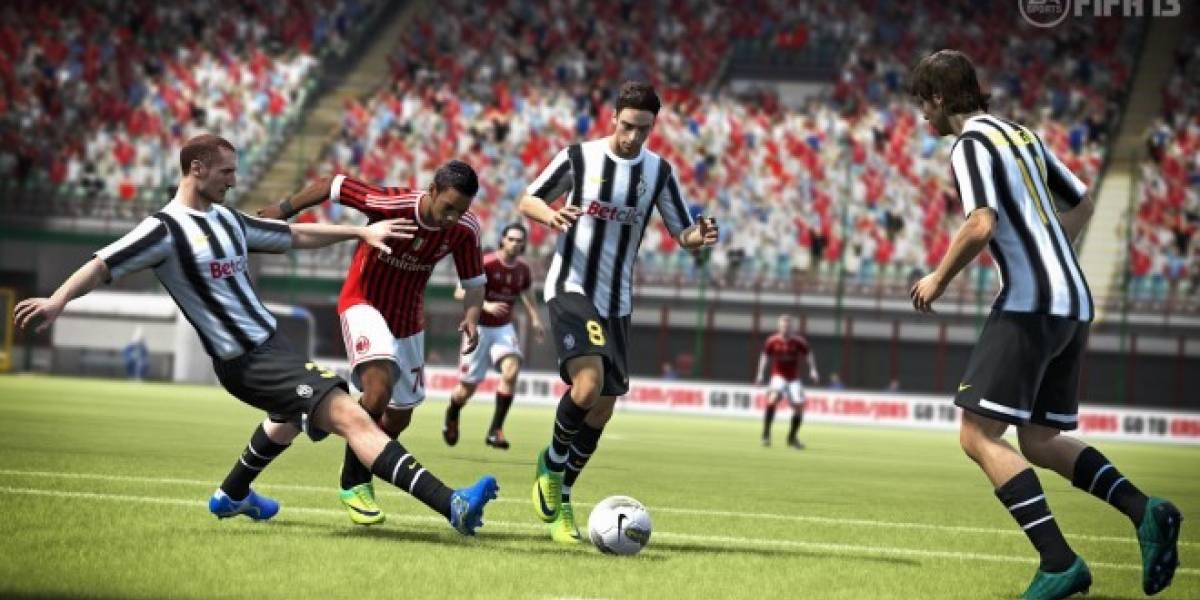 Detalles del uso del GamePad de Wii U en FIFA 13