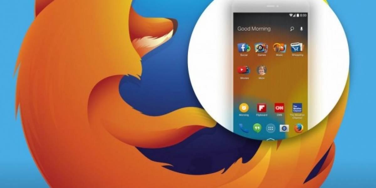 Mozilla anuncia Firefox Launcher para Android