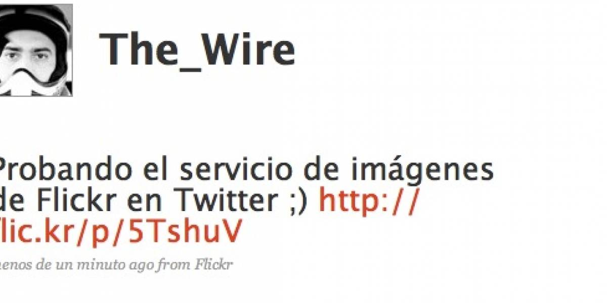 Flickr integra a Twitter