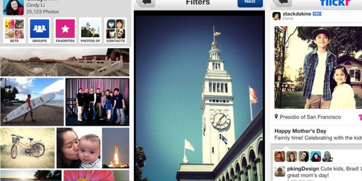 Yahoo renueva a Flickr para iPhone