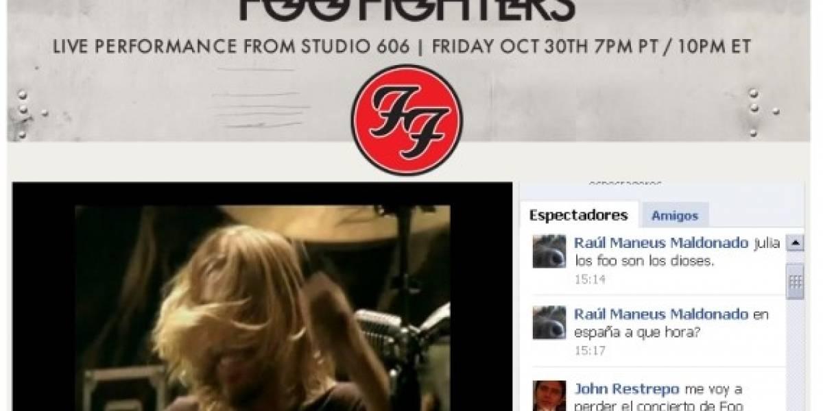 Foo Fighters transmitirá concierto en Facebook