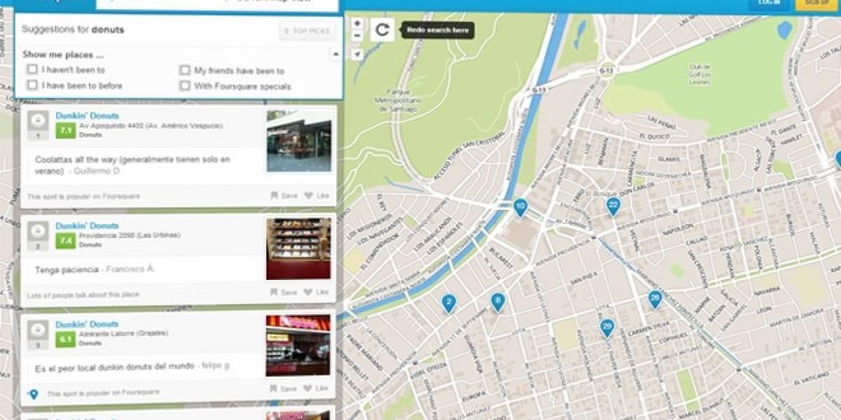 Futurología: Foursquare le ayudará a Apple con información local para sus mapas