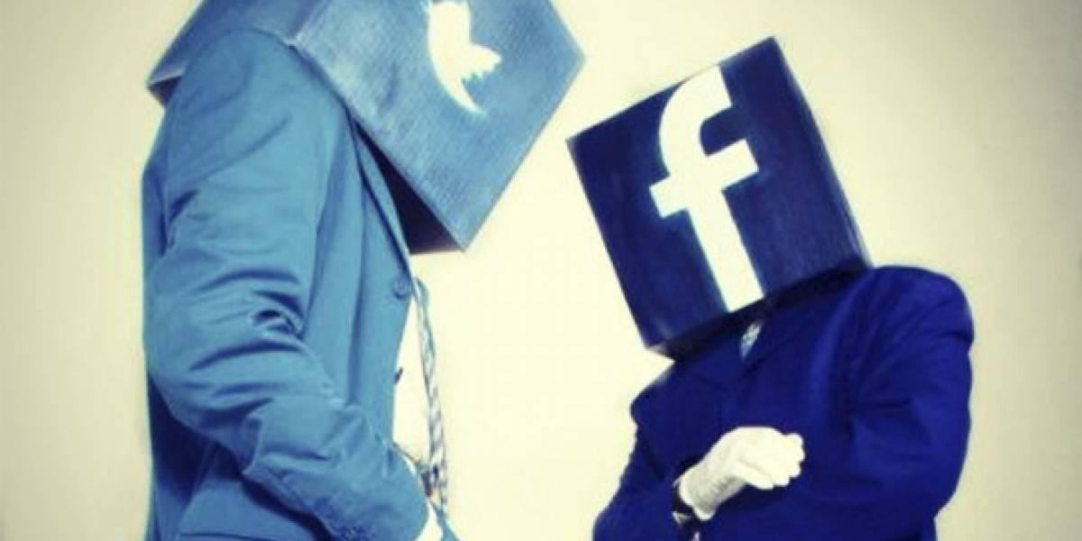 Facebook versus Twitter: La batalla ahora es en el campo móvil