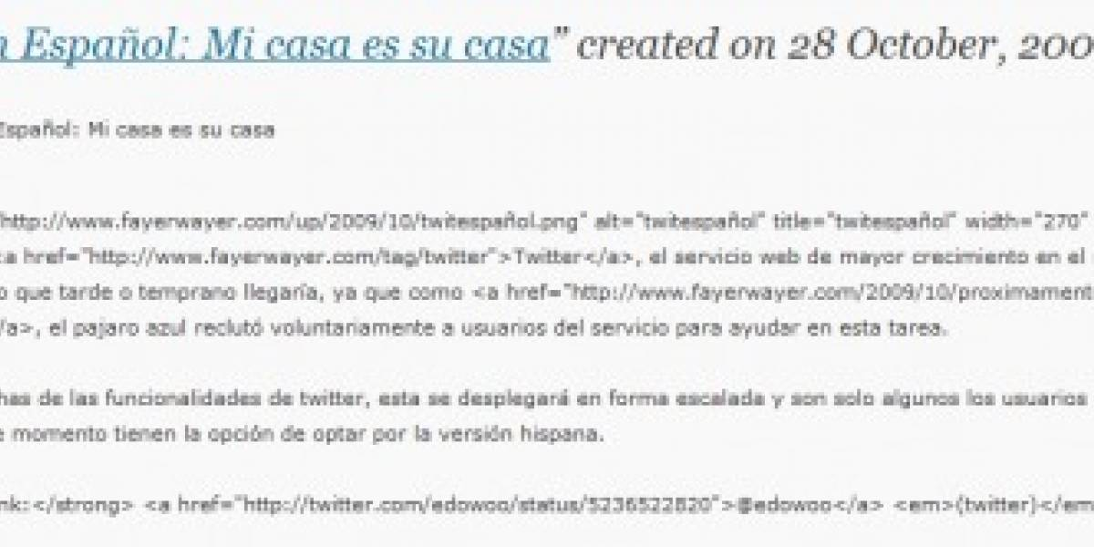 Twitter en Español: Mi casa es su casa