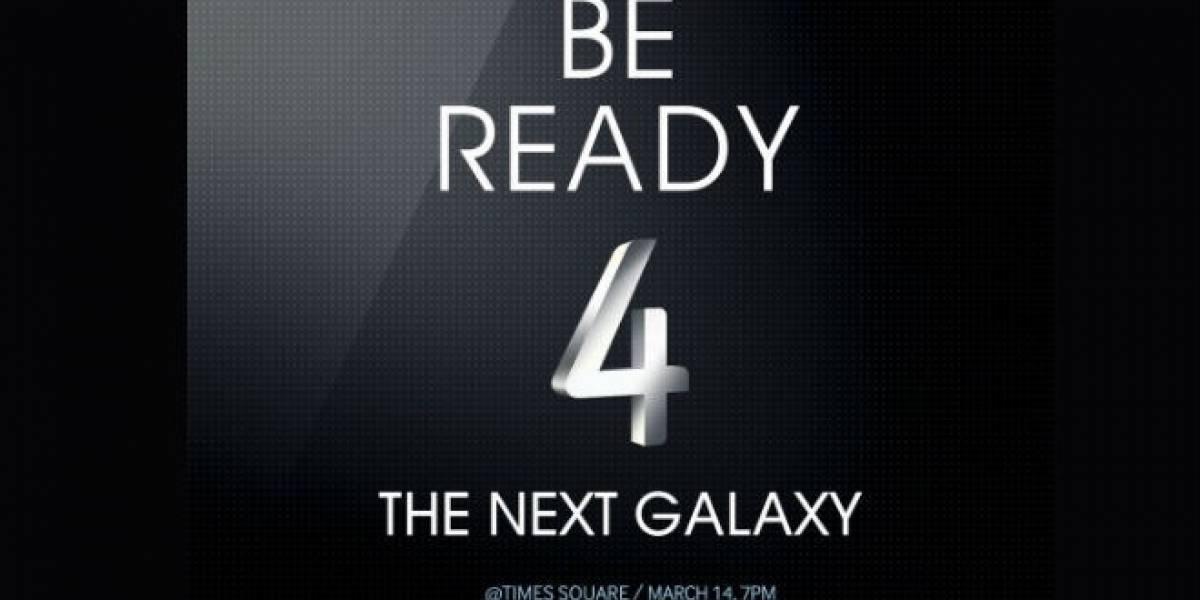 Samsung invita a la gente a ver su anuncio del 14 de marzo en Times Square