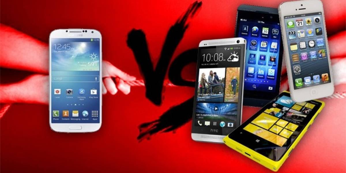 Compara Samsung Galaxy S4 versus Otros Smartphones