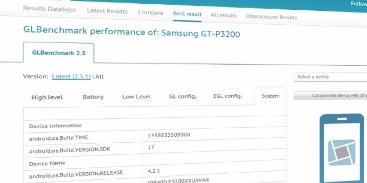 Se filtra supuesto benchmark del Galaxy Tab 3 de Samsung