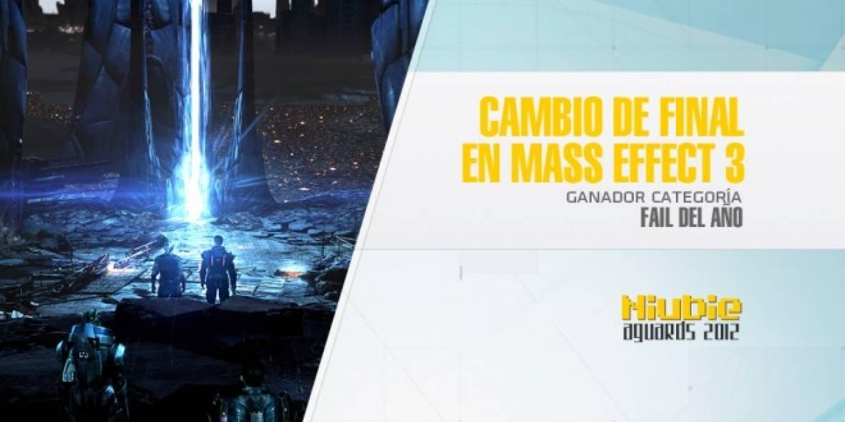 Niubie Aguards: El cambio en el final de Mass Effect 3 es el Fail de 2012