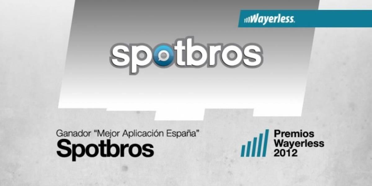 Spotbros es la Mejor Aplicación España 2012 [WL aWards]