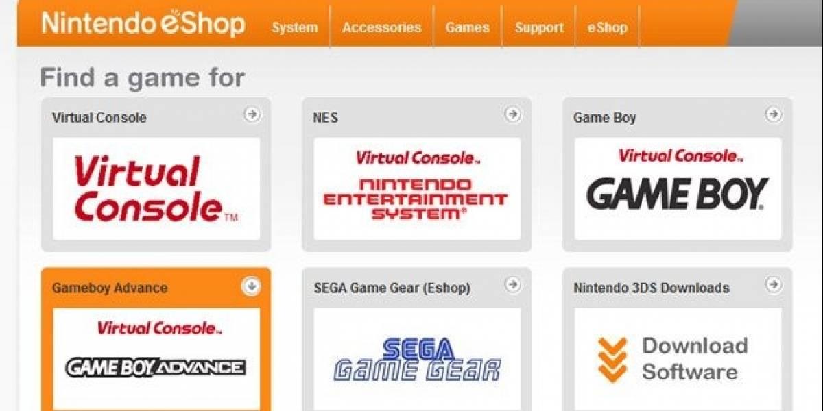 La Nintendo eShop podría contar con títulos de Game Boy Advance
