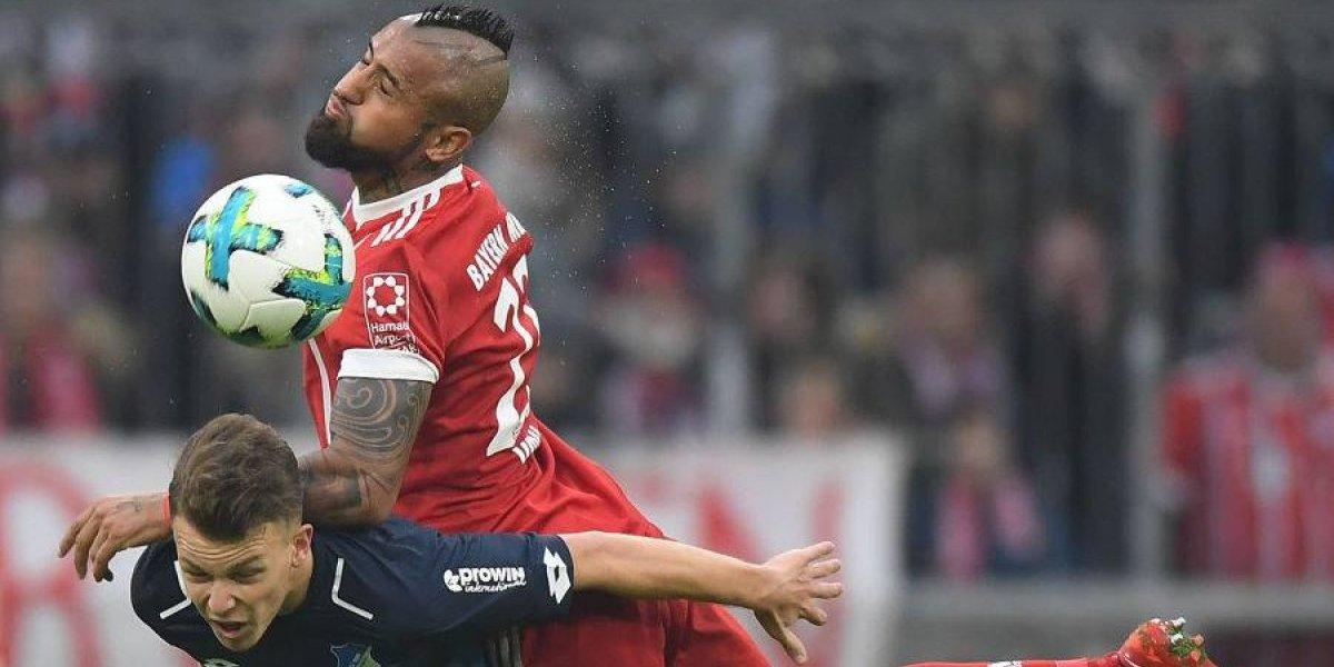 Arturo Vidal marcó un golazo de cabeza en sufrida victoria del Bayern Munich