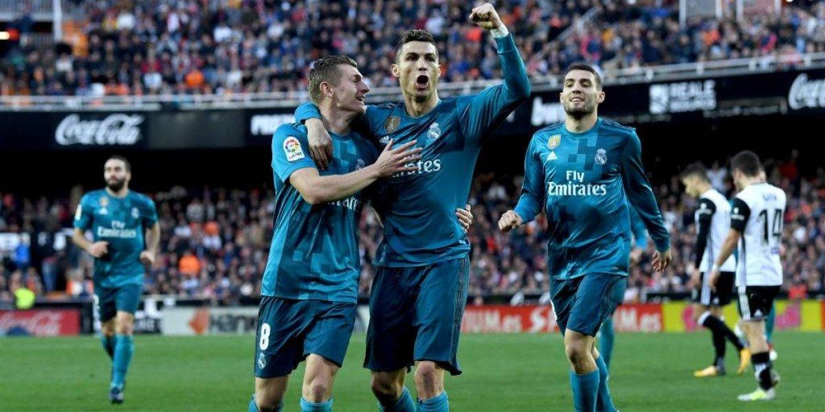 Real Madrid olvida su mal momento con un soberbio triunfo sobre Valencia en la liga española
