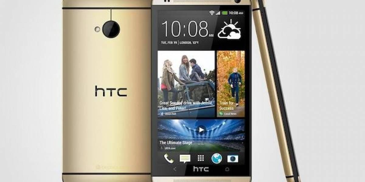 HTC lanza una versión dorada de su modelo One