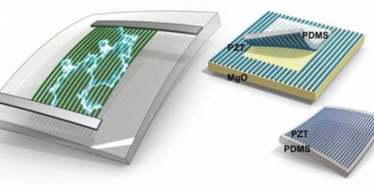 Pieza de goma podría aprovechar el movimiento del cuerpo para alimentar dispositivos eléctricos
