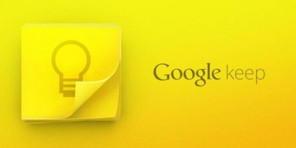 Google Keep ahora se sincroniza con Drive y tiene nuevos widgets
