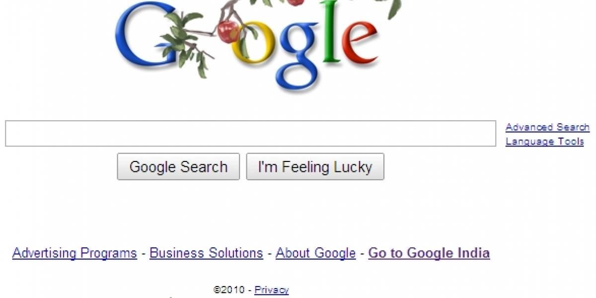 Google celebra con manzanas el natalicio de Isaac Newton