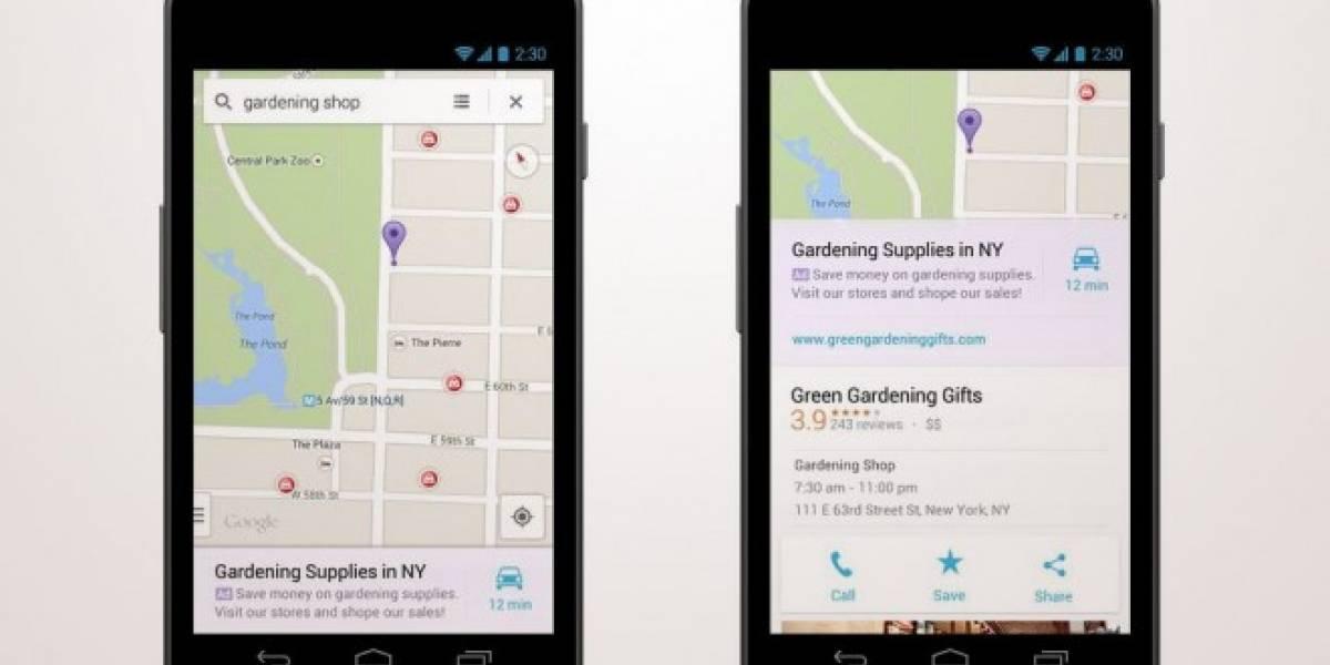 Google Maps para iOS y Android ahora tendrá publicidad