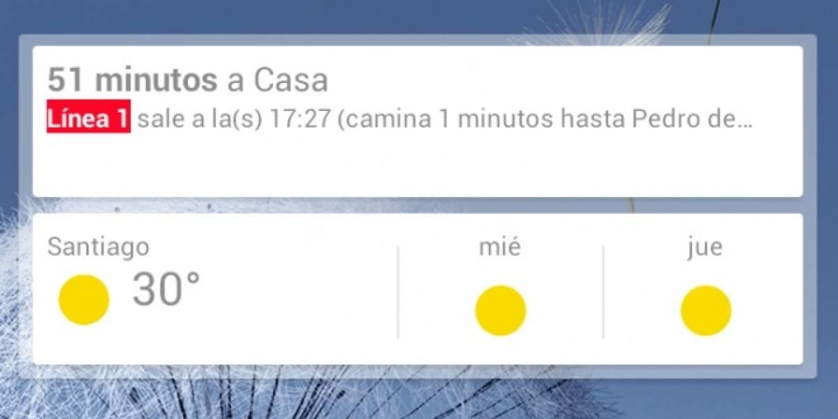 Google Now ahora tiene nuevas características y un widget para tu Android