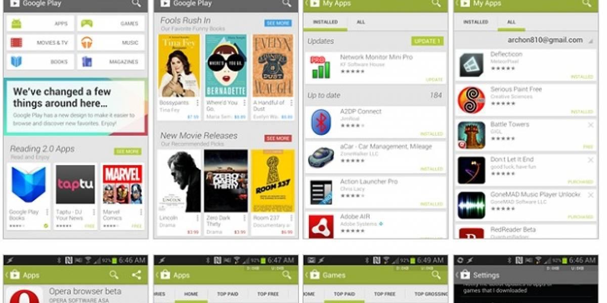 Instala ahora el nuevo Google Play 4.0