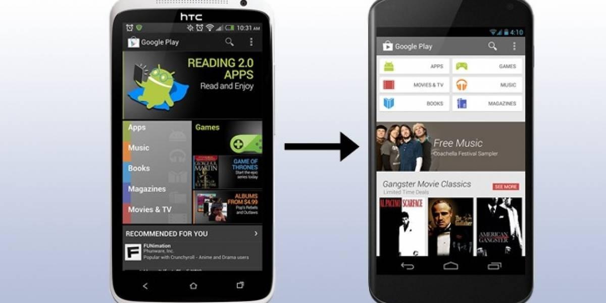 Google actualiza la Play Store a su versión 4.0