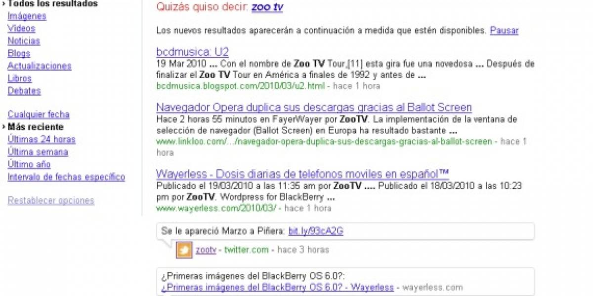 Google expande las búsquedas en tiempo real a todo el mundo