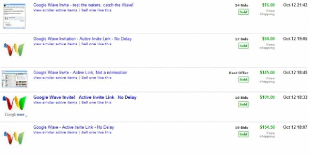 Invitaciones a Google Wave se venden como pan caliente