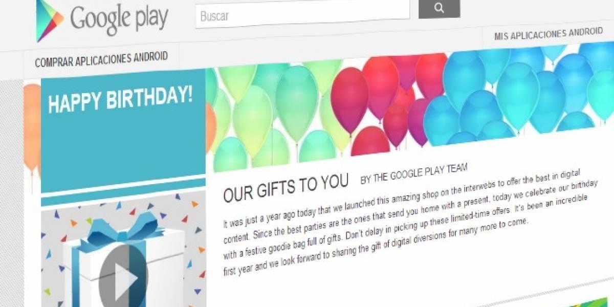 Google Play celebra su cumpleaños con descuentos y descargas gratis