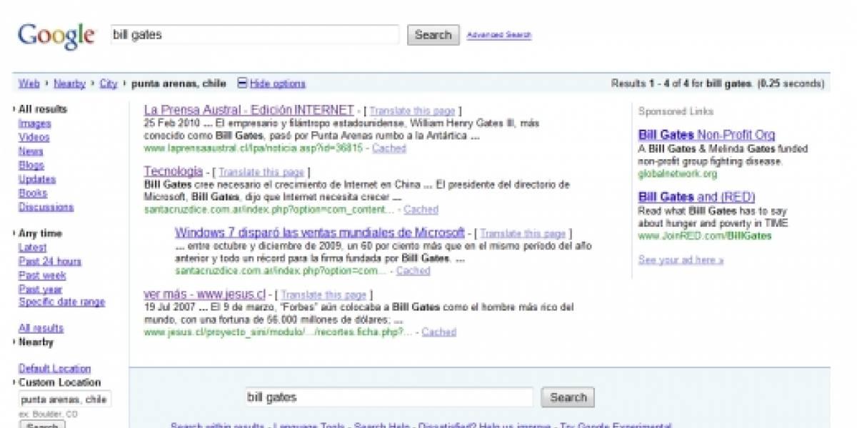Google estrenó sistema de búsquedas geográficas