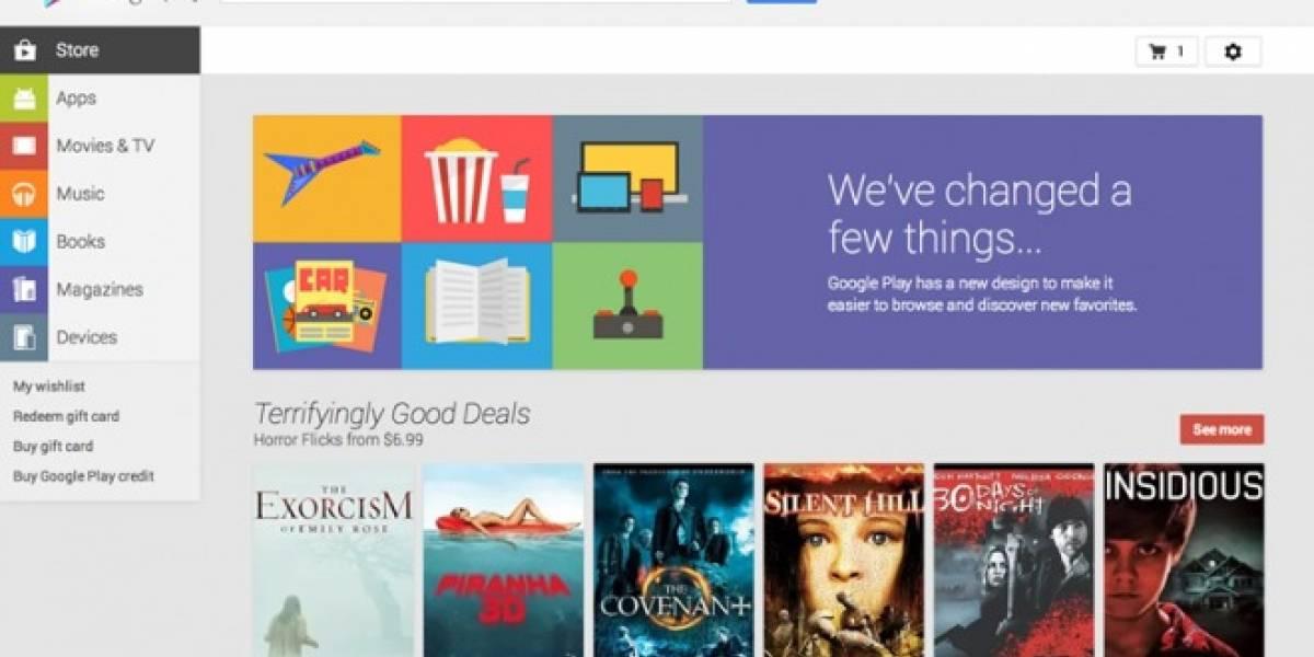 Tienda aplicaciones Google Play se moderniza para navegadores web