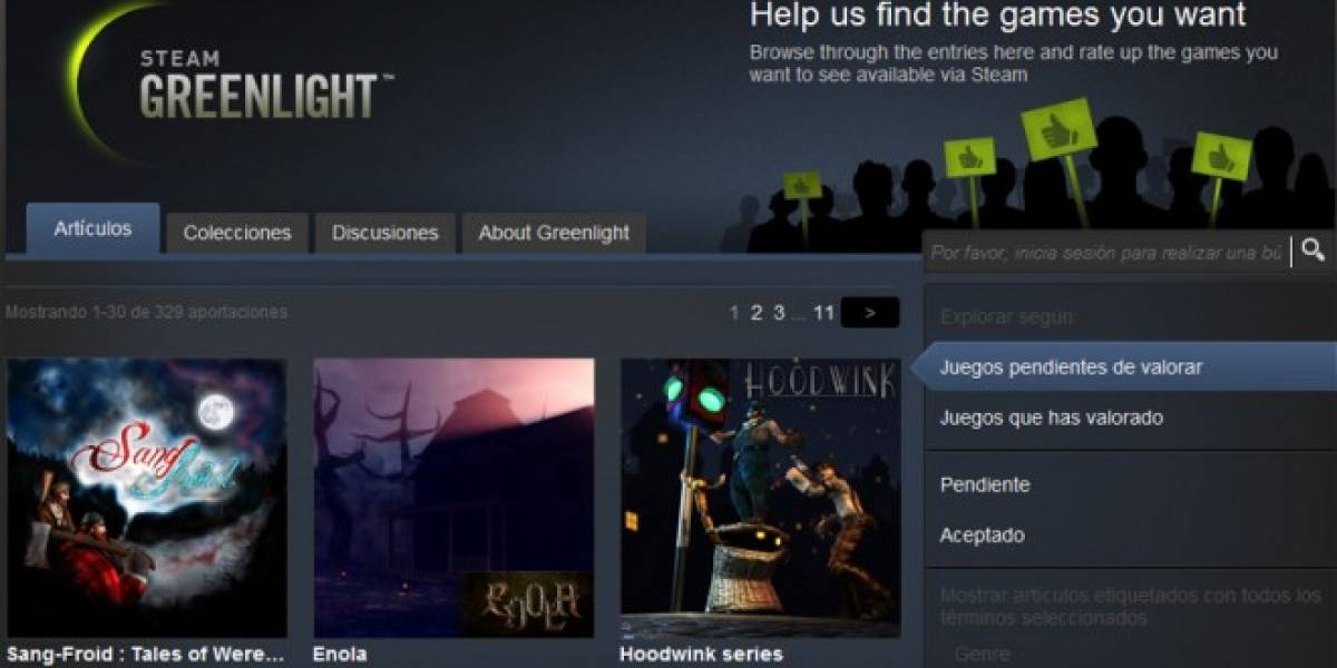 Valve anuncia que ya está disponible Steam Greenlight