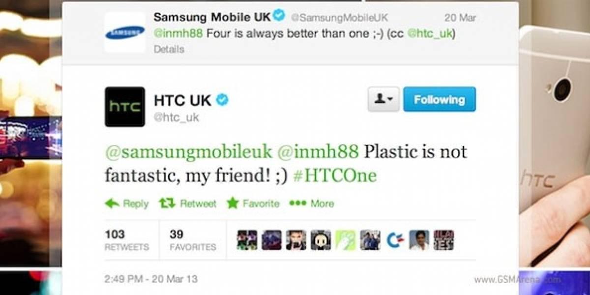 HTC y Samsung se atacan en redes sociales