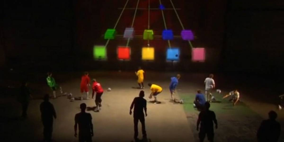 Video: Guitar Hero controlado por balones de fútbol