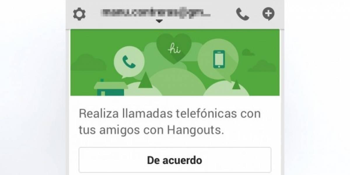 Hangouts permite hacer llamadas a teléfonos desde iOS