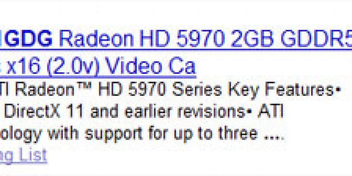 Radeon HD 5970 costaría USD$600